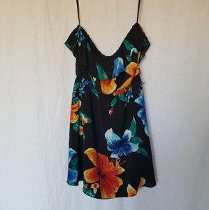 White house black market straples floral dress